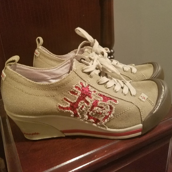 Jump Platform Sequined Sneakers Size